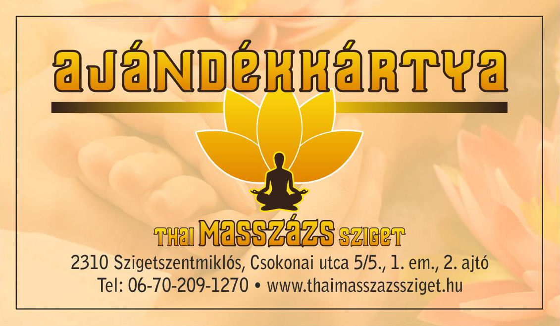 thai masszázs ajándékkártya